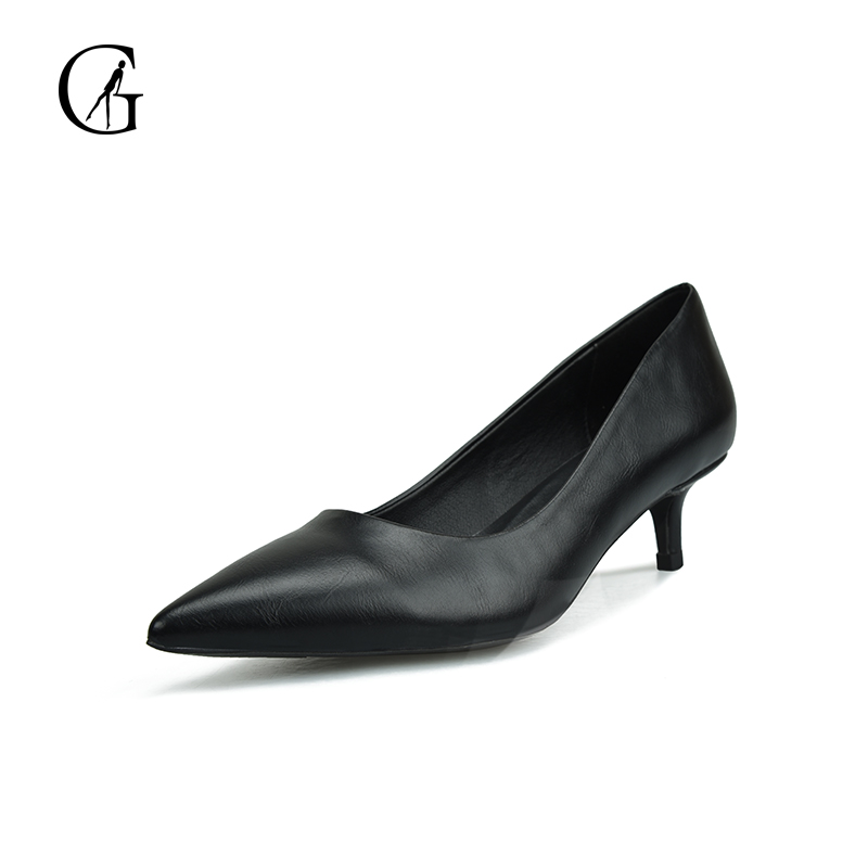 GOXEOU 2018 New Women Pumps Thin Heel High Heels Sexy Pointed Toe Slip-on Wedding Office Handmade Plus size Free Shipping women studded high heels pointed toe sexy pumps new 2017 ladies slip on thin heel shoes riveted free shipping
