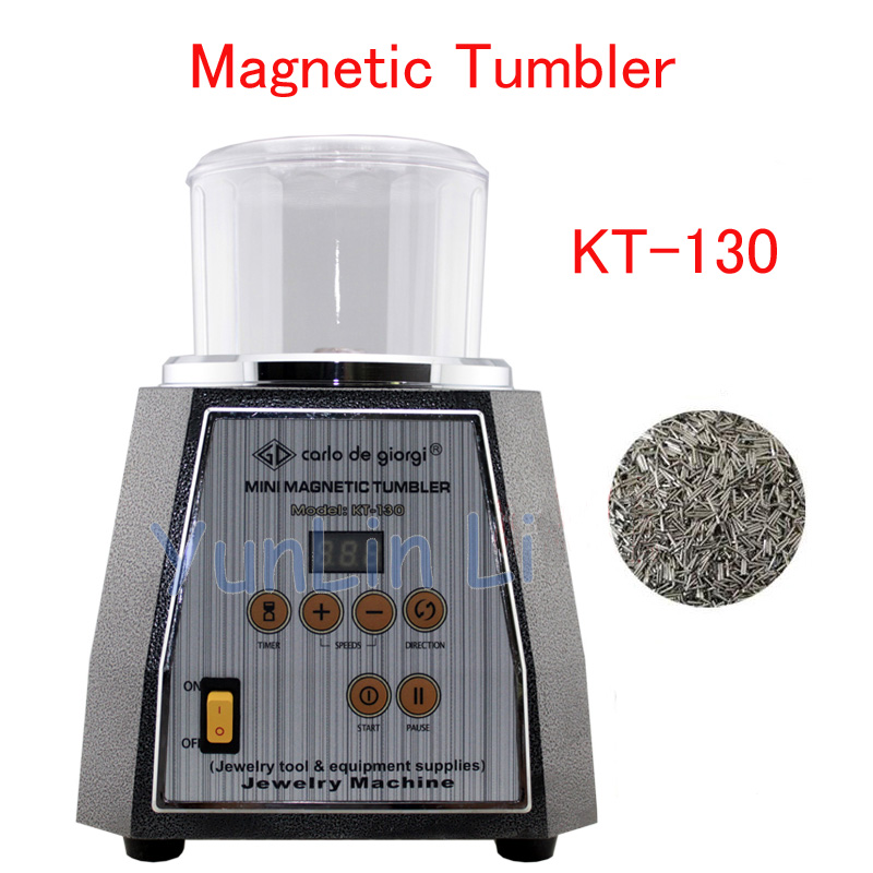 Magnetic Tumbler 130mm Jewelry Polisher Metals Polisher Super Finishing Jewelry Polishing Machine KT 130