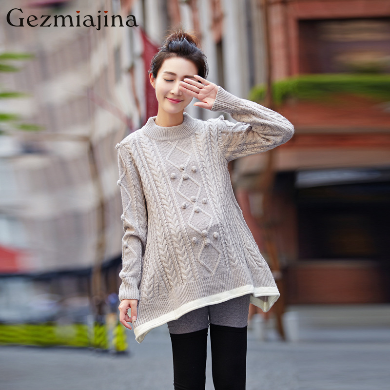 Autumn and winter maternity clothing New fashion Maternity font b Sweater b font Dress Pregnancy wear