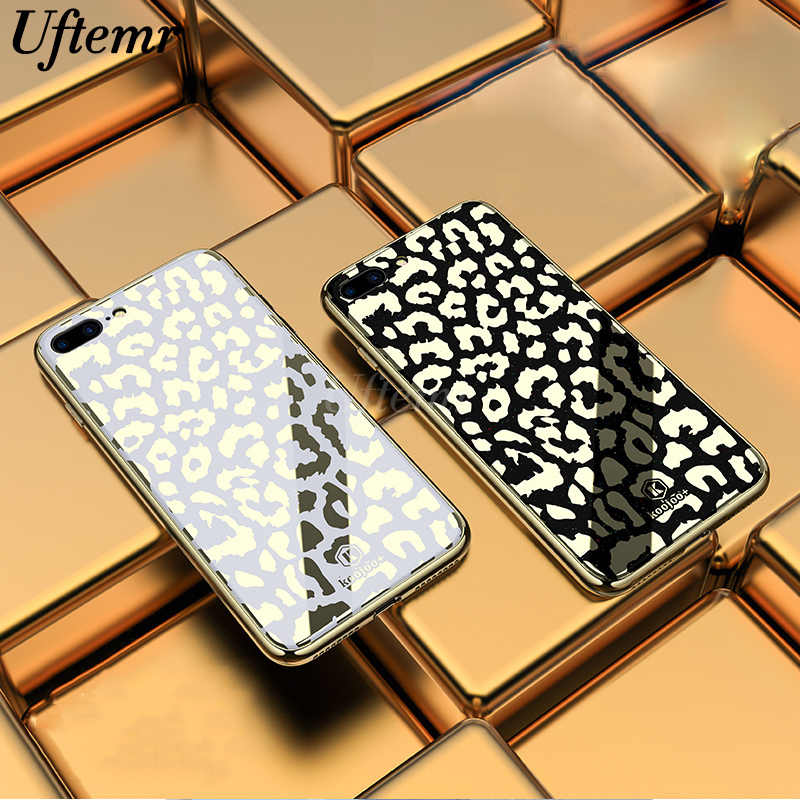 Phone Case for IPhone 6 6s 7 8 Plus Cover Shining Glitter Leopard Spot Soft TPU Silicone Frame Case for IPhone X XS MAX XR Cover