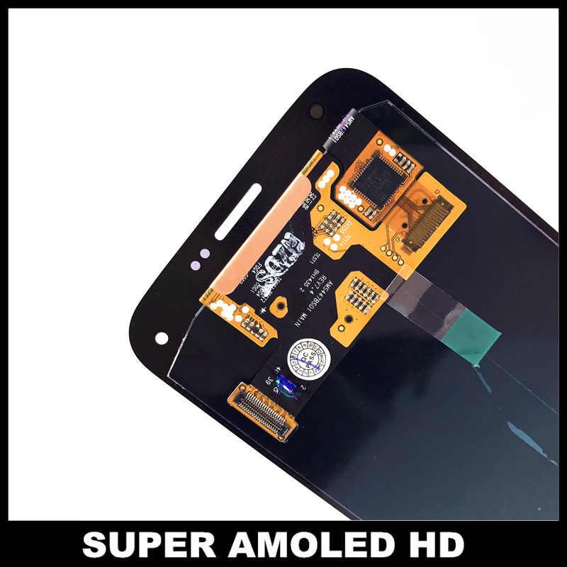 استبدال سوبر AMOLED شاشات lcd لسامسونج غالاكسي S5 Mini G800 G800F G800H شاشات الكريستال السائل شاشة عرض مجموعة رقمنة اللمس ملصق