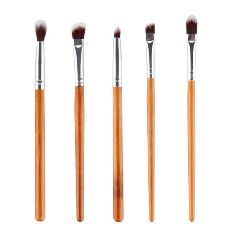 New hot 5Pcs/lot Professional Beauty Eyebrow Eyeshadow Brushes Set Makeup Brushes Tools golden Makeup Brushes Kits