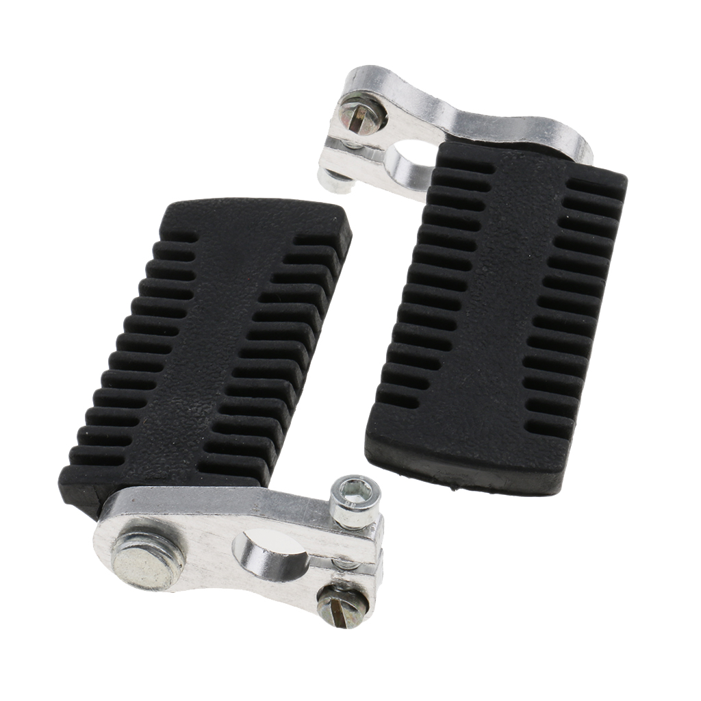 2Pcs Motorcycle Front Rear Foot Pegs Footrest For 47cc 49cc 2-Stroke Mini Motor Pocket Bike Universal For Yamaha For Honda