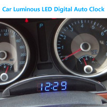 VODOOL New Car Luminous LED Digital Auto Clock Thermometer Voltmeter for Vehicle Trunk 12V Time Display with Memory Function(China)