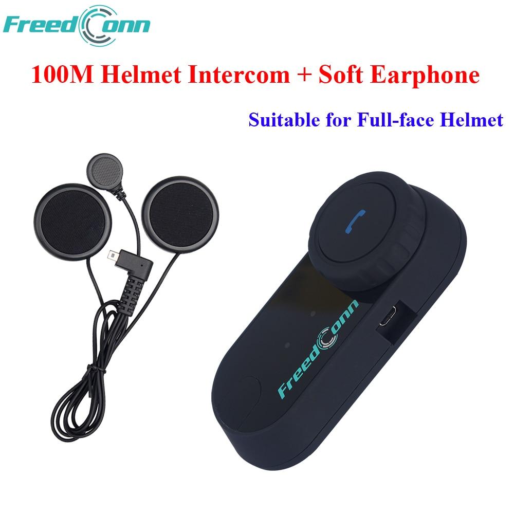 FreedConn Soft Earphone FM T-COM OS Bluetooth Motorcycle Helmet Intercomunicador Motocicleta Motorcycle Riders Intercom Headsets free shipping t com 1km a2dp avrcp motorcycle bluetooth intercom fm free soft