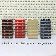 Château de ville bricolage pièces/sac 1x4, briques murales, blocs de construction, jouets créatifs pour enfants
