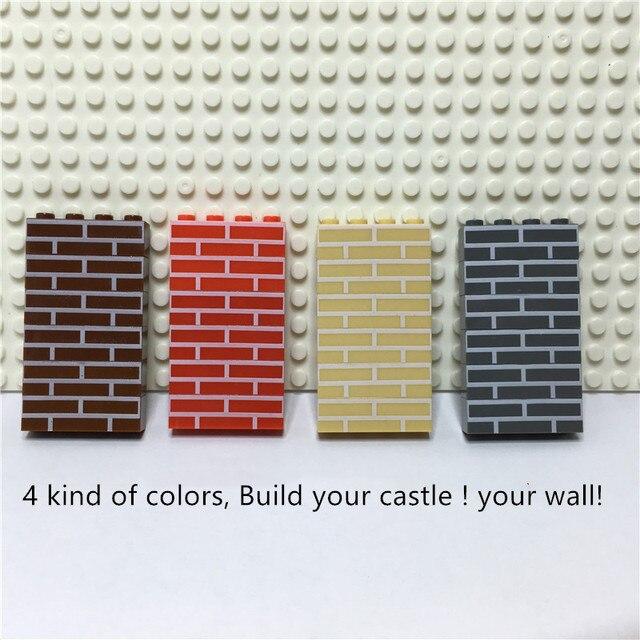 เมืองปราสาท DIY 100 ชิ้น/ถุง 1X4 House Wall อิฐ MOC ชิ้นส่วนอาคารของเล่นสร้างสรรค์สำหรับเด็ก