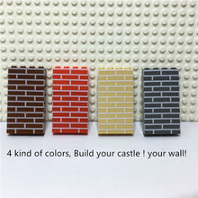 Stad Kasteel Diy 100 Stuks/zak 1X4 Huis Muur Bakstenen Moc Bouwstenen Onderdelen Creatief Speelgoed Voor Kinderen