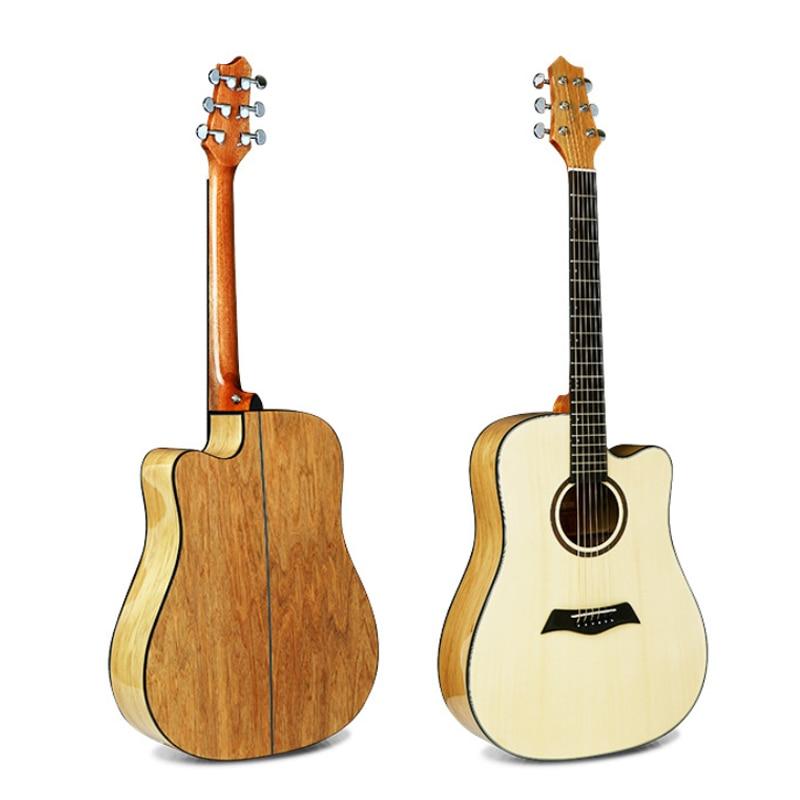 Guitare acoustique en palissandre avec guitare en épicéa brillant de 41 pouces