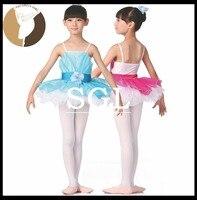(5 יח'\חבילה) ילדה פרח שמלות טוטו תינוק/ילד/ילד גודל חצאיות טוטו עבור ביצועים שמיים כחולים/ירוק/סגול/רוז צבע אדום SD4047