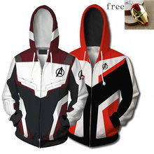 Avengers Endgame Hoodies Mannen Quantum Rijk 3D Hoodies Superheld Captain America Iron Tony Stark Sweatershirt Jas Amine Rits(China)