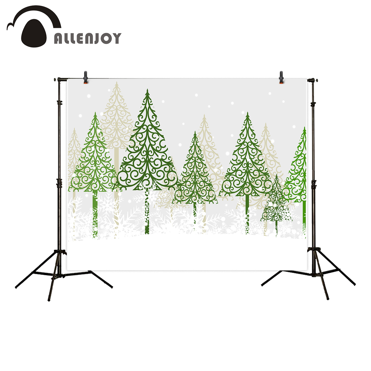 Allenjoy photography background Christmas green tree snow kids backdrop photographic newborn photobooth photo studio photocall перчатки truespin touch gloves light heather grey