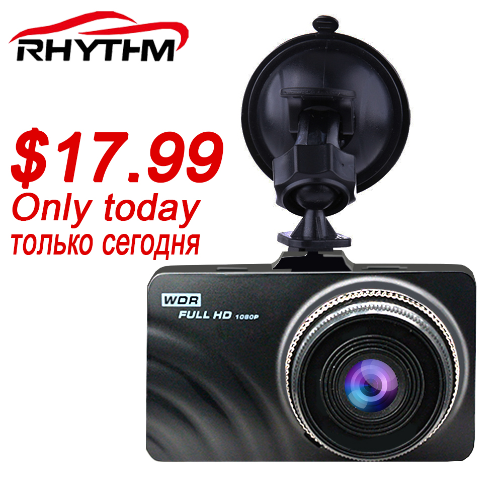 Rhythm 3.0 inch screen Full HD 1080P Car DVR mini Vehicle Dash Camera Cam free USB car charger for iPhone & Android