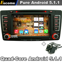 7″ 2 din Pure Android 5.1 Car DVD Player For Skoda Octavia 2012 2013 Yeti With Rear View Camera Radio GPS Navigation
