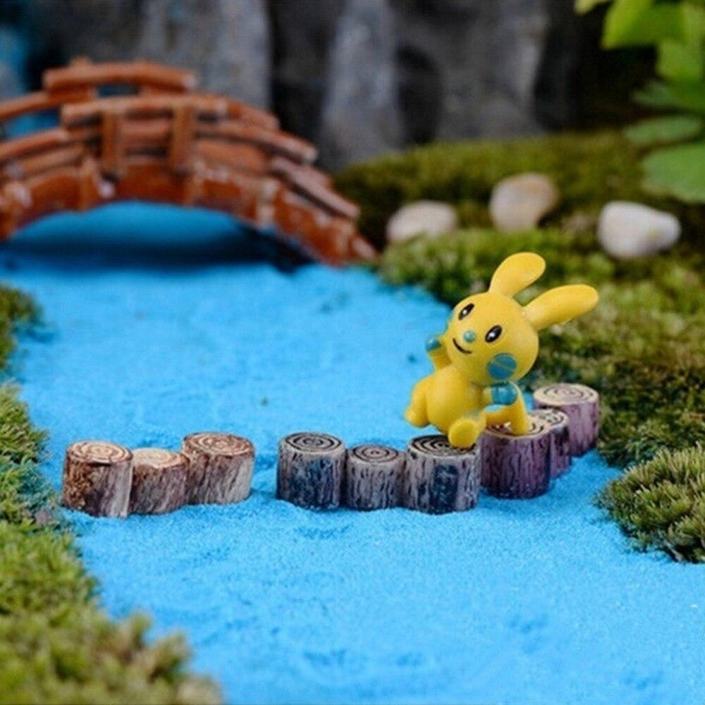 Hot Sale Random Color Micro Landscape Decor Crafts Decor Miniature Multicolour Tree Stump Fairy Terrarium Party Garden Gift
