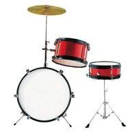 Jinbao Musical Instrument Red Color 3 Pc Chinldren Drum Set 12 Drum Set