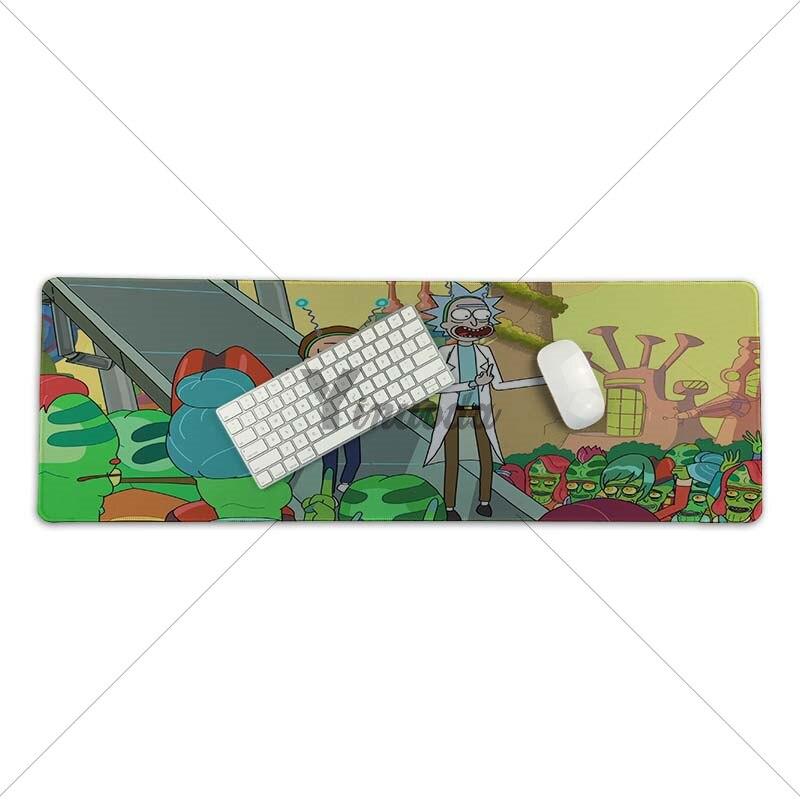 Yinuoda скин Мультфильм Рик и Морти Ноутбук игровой Lockedge мыши коврик для мыши Размеры для 30x70 см 30x90 см прямоугольник для мышей