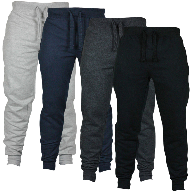 2018 Mens Sweat Pants Spring Autumn Fitness Bodybuilding Gyms Pants Skinny Jogger Pant Cargo Tracksuit Britches Men Trousers
