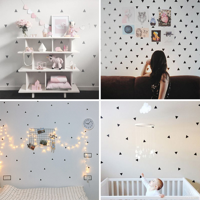 Baby Boy Room Little Triangles Wall Sticker For Kids Decorative Stickers Children Bedroom Nursery Decal 2