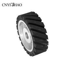 CNYISHAO 150*50*25mm Serrated Contact Wheel Forged Rubber Drive for Belt Sanders and Polisher