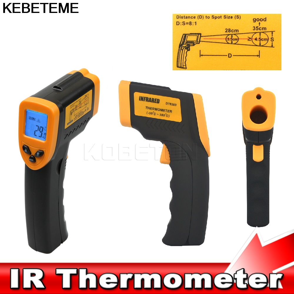 Image 5 - 1PC Hot Handheld infrared Thermometer Temperature Gun Digital  Laser LCD Non contact Infrared Thermometer 50 to 380 Cnon-contact  infraredhandheld infrared thermometerinfrared thermometer -