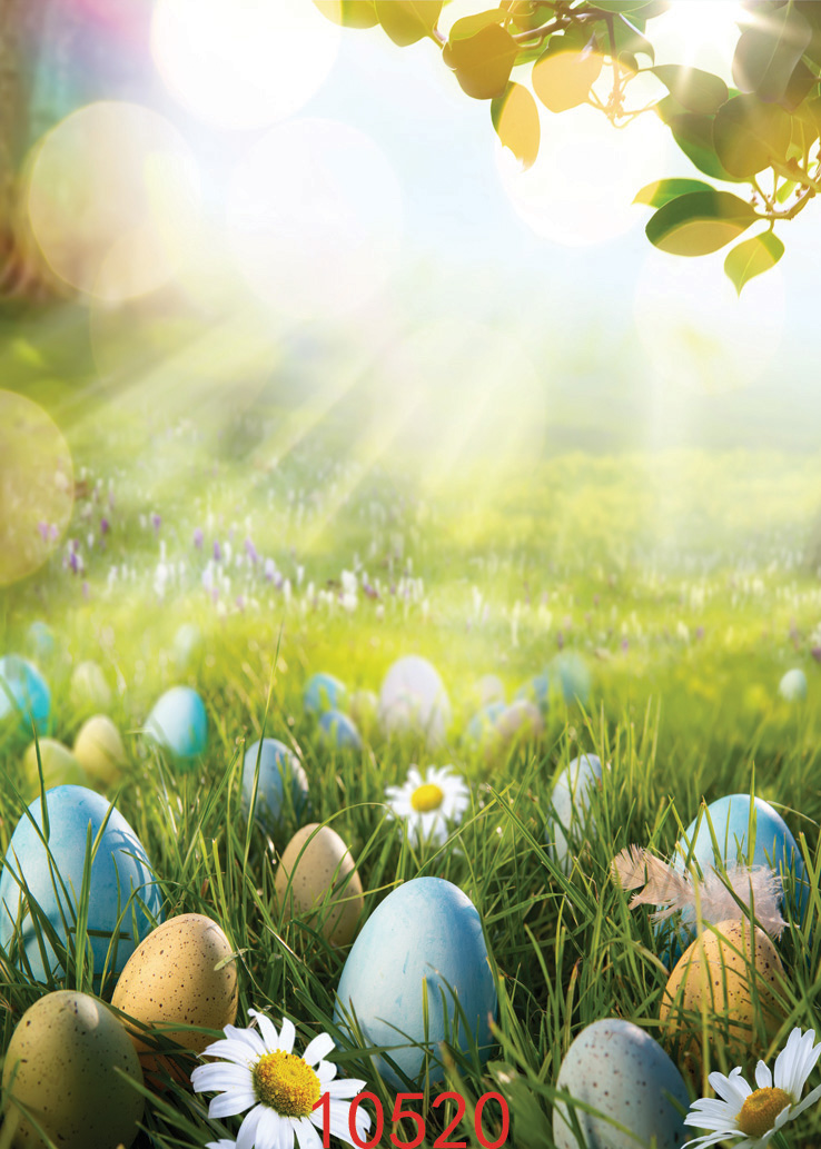 Easter Eggs Photography Background 150x210cm Natural Image
