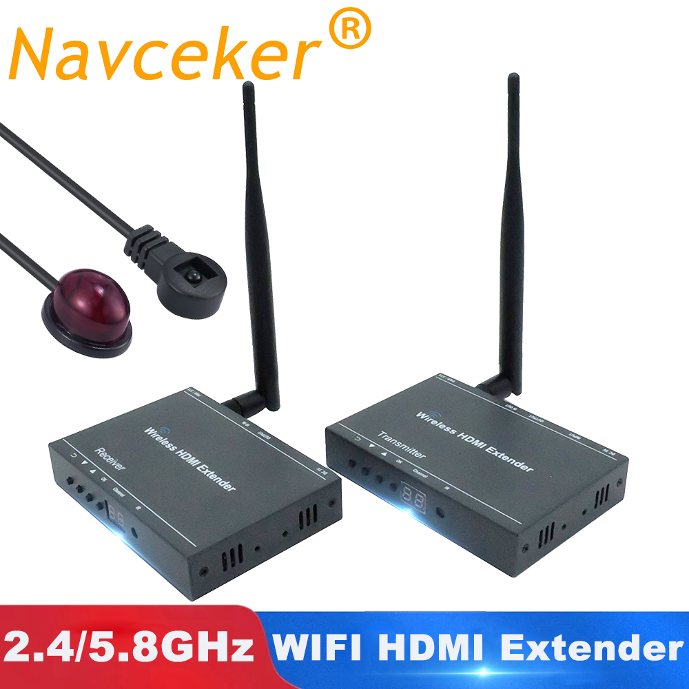 2020 Best 330ft Wireless HDMI Transmitter Receiver 1080P HDMI Wireless Extender Kit With Loop Out IR Video HDMI Wireless Sender