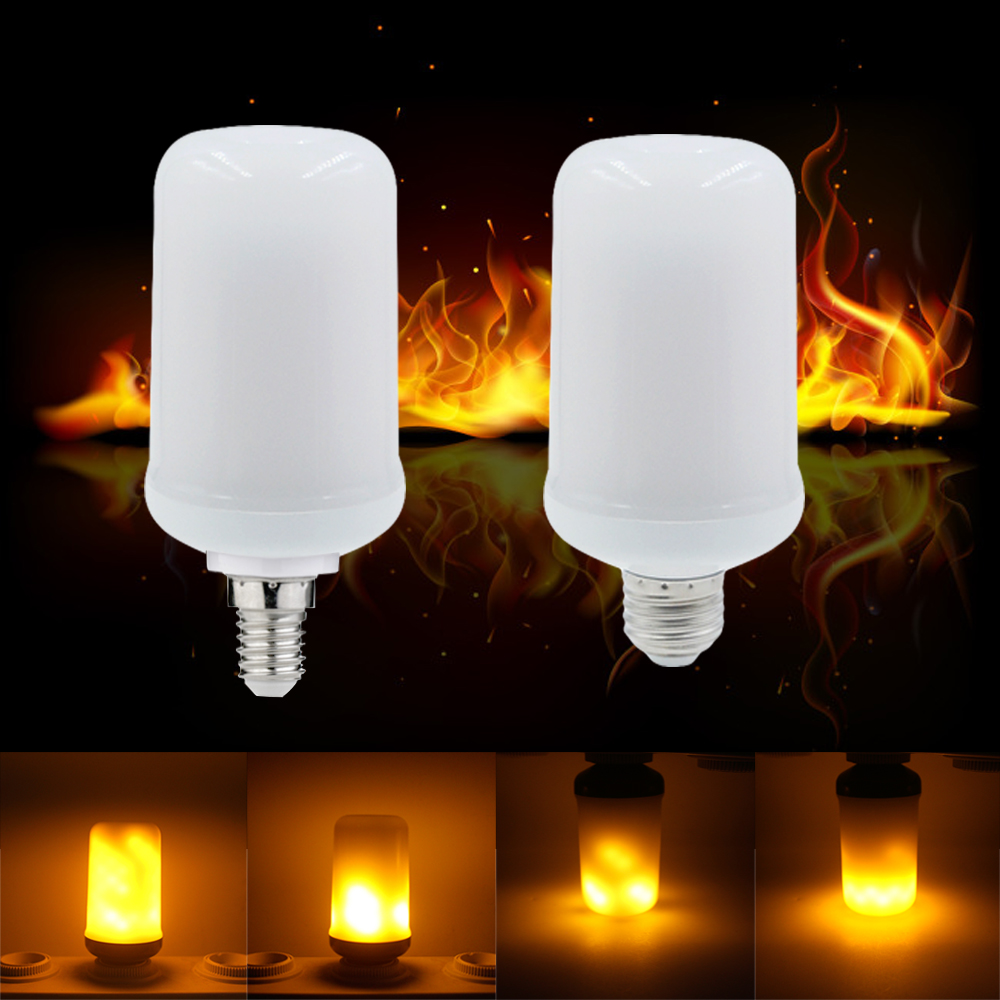 Factory price B22 E27 E26 E14 E12 LED Lamp Flame Effect Fire Light Bulb Holiday Decoration flame light bulbs free shipping