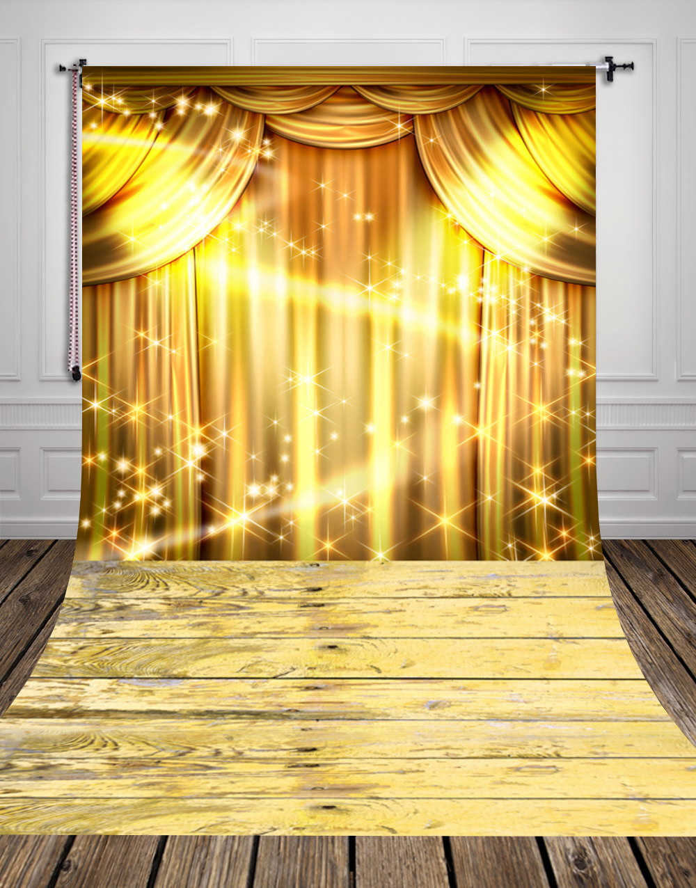 Bl blue stage curtains background - Huayi Gold Curtain Photography Backdrops Yellow Glitter Photo Background Stage Photo Background Fabric Backdrops For Photo D9945 In Background From Consumer