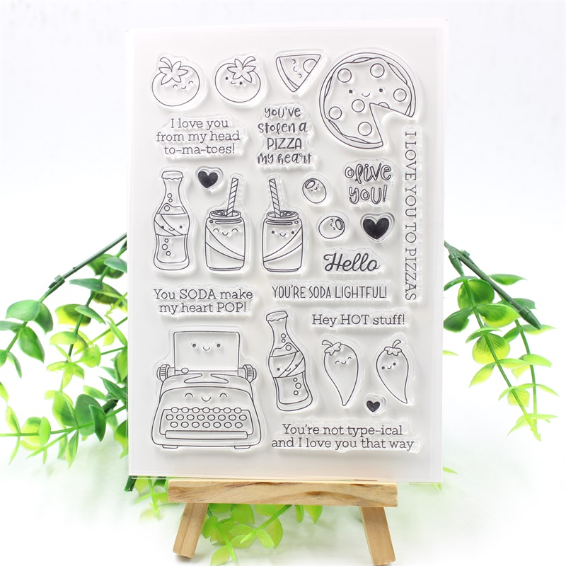 YPP CRAFT Delicious Food Transparent Clear Silicone Stamps for DIY Scrapbooking/Card Making/Kids Fun Decoration Supplies
