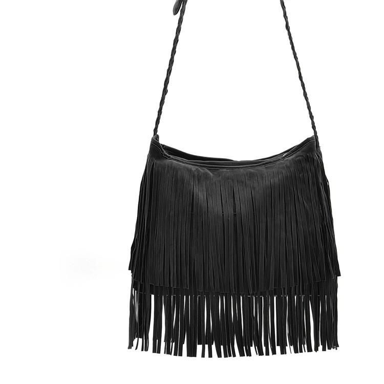 Fashion PU Leather Handbag Tassel bags Vintage Bucket Women Shoulder bag Small Ladies messenger bags Tote bolsa 2015 BH249 (5)