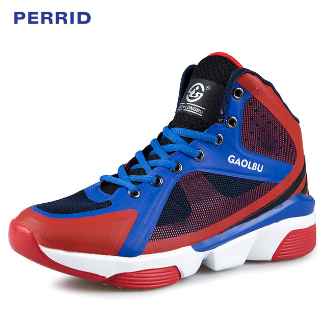 3eb144fd78b9 PERRID Brand Sports Basket Shoes Men Male Breathable Youth Sneakers Men  High Top Combat Boots Mens Sneakers Basketball Shoes Men