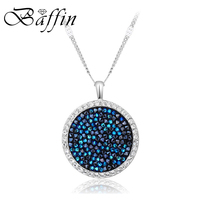 BAFFIN 100 Original Crystals From SWAROVSKI Maxi Round Necklace Pendant For Women Party Wedding Accessories Best