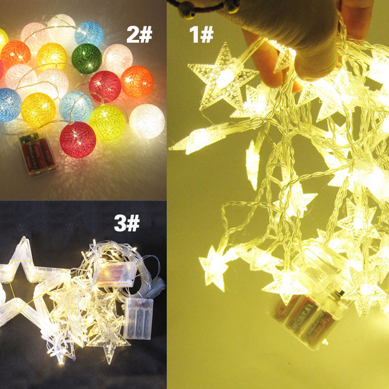 String Star Moon Clouds LED Fairy Lights Tent Decor Light Wedding Birthday Party Photo Prop Supplies CLH@8