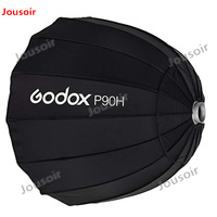 Godox Portable P90H 90CM Deep Parabolic Softbox Bowens Mount Studio Flash Speedlite Reflector Photo Studio Softbox CD50 A04