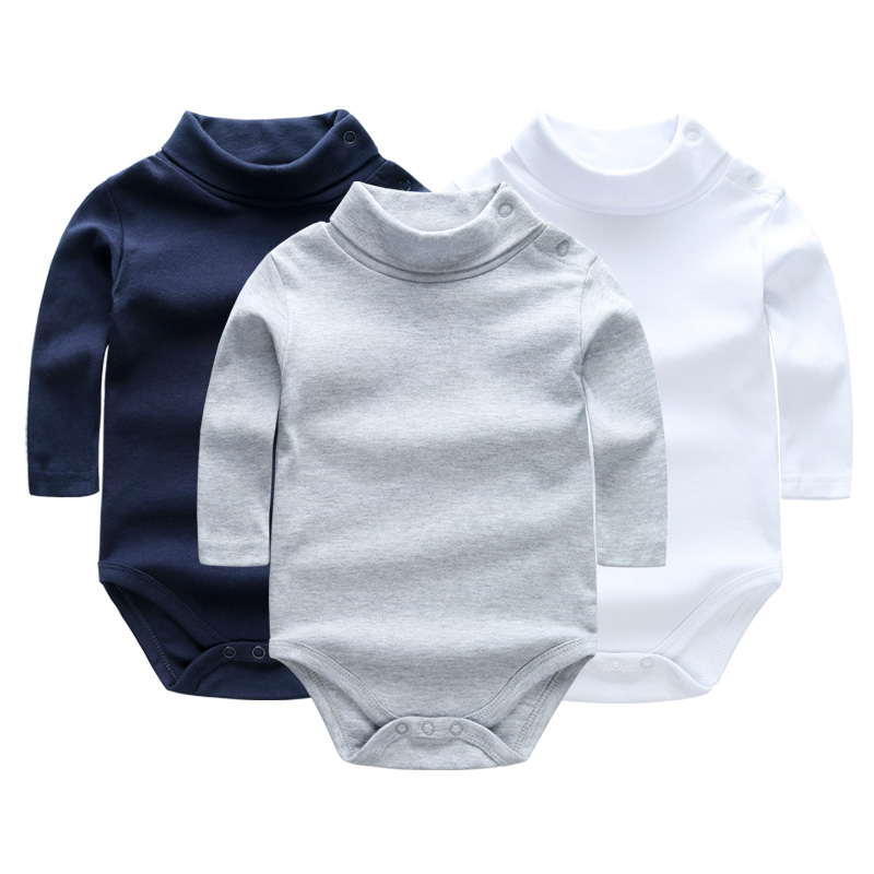 3PCS Baby Clothes Long Sleeve Cotton Baby Rompers Clothing Overalls for Newborn Baby Boy Girl Romper Turn-down Collar Costume summer newborn baby rompers ruffle baby girl clothes princess baby girls romper with headband costume overalls baby clothes