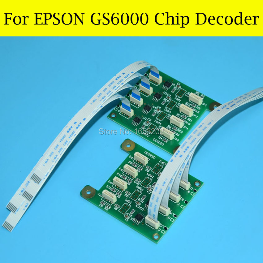 Chip Decoder Card For Epson Stylus GS6000 Printer For EPSON T6241-T6248 624 Ink Cartridge недорого
