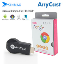 AnyCast EasyCast OTA WIFI Media Player Miracast DLNA Airplay 1080 P Windows iOS Android Smart TV Bâton Dongle Google Chromecast