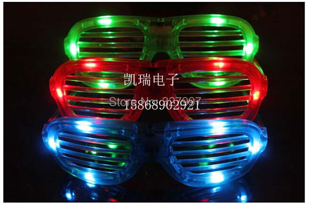 LED flashlight eyeglasses light shutter glow toys party gift decorative LEDG1001 24pcs/lot free shipping