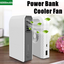 6000mAh Power Bank Small Personal Mini Cooler Fan With Portable Handheld USB Bladeless Fan For Mobile Phone Charging