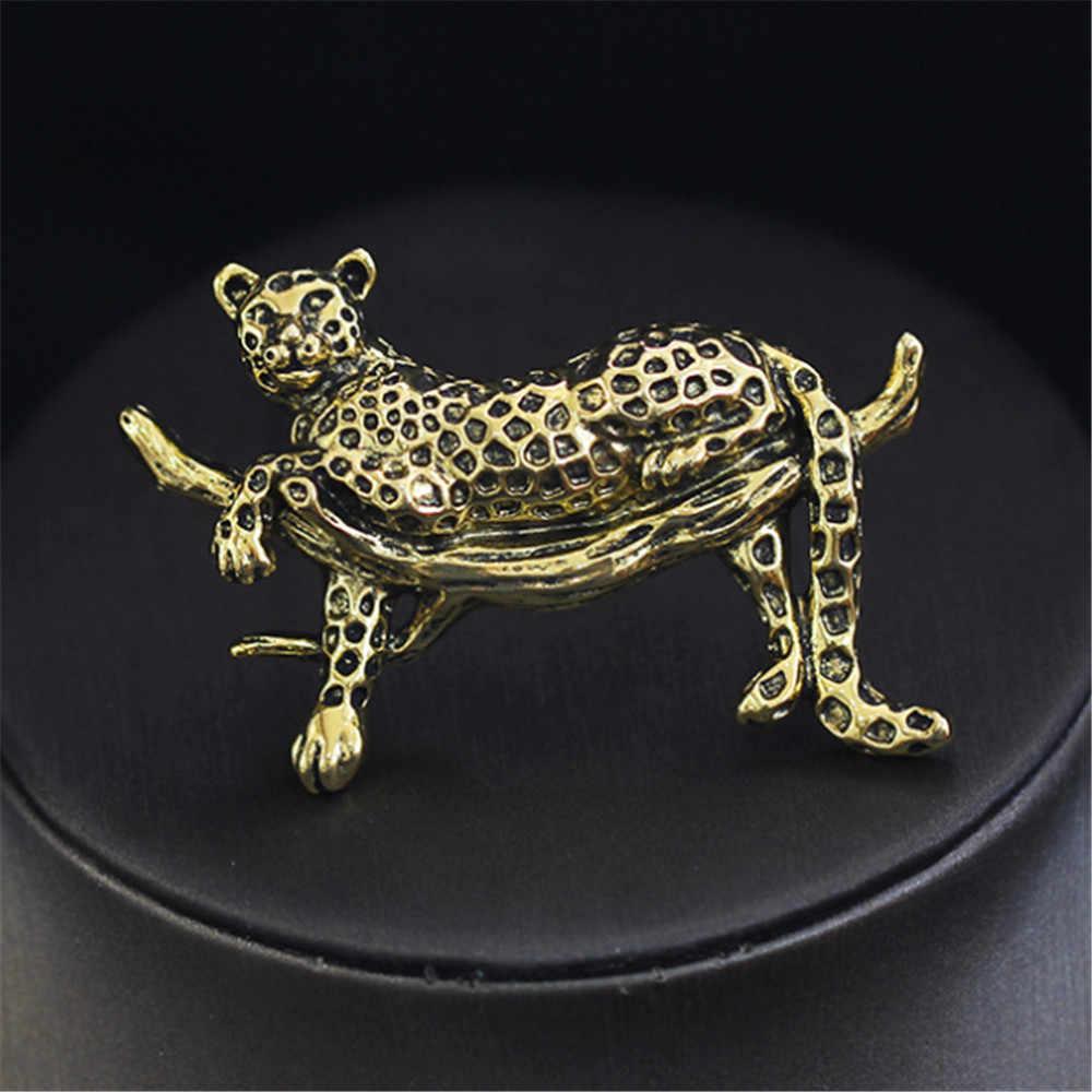 Hot Ouro Prata Esmalte Manchas do Leopardo Das Mulheres Dos Homens de cores Animais Broche Broches 2 Ternos Meninos Brasão Collar Jóias Corsage Pinos presente