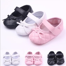 Fashion Lovely Bowknot Baby Shoes First Walkers Newborn PU C