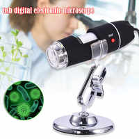 Mega Pixels 500X 1000X 1600X 8 LED Digital Microscope USB Endoscope Camera Microscopio Magnifier Electronic Microscope W/ Stand