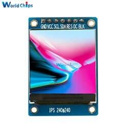 1,3 дюйма ips HD TFT ST7789 Drive IC 240*240 SPI связь 3,3 V Напряжение 4-модуль дисплея Интерфейс полный Цвет ЖК-дисплей Дисплей DIY