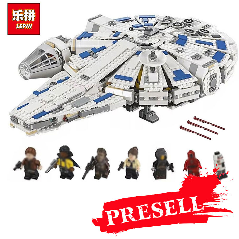 2018 LEPIN Star Series War 05142 Building Blocks Force Awakens Millennium Legoing 75212 Falcon Model Kids Toy Christmas Gift