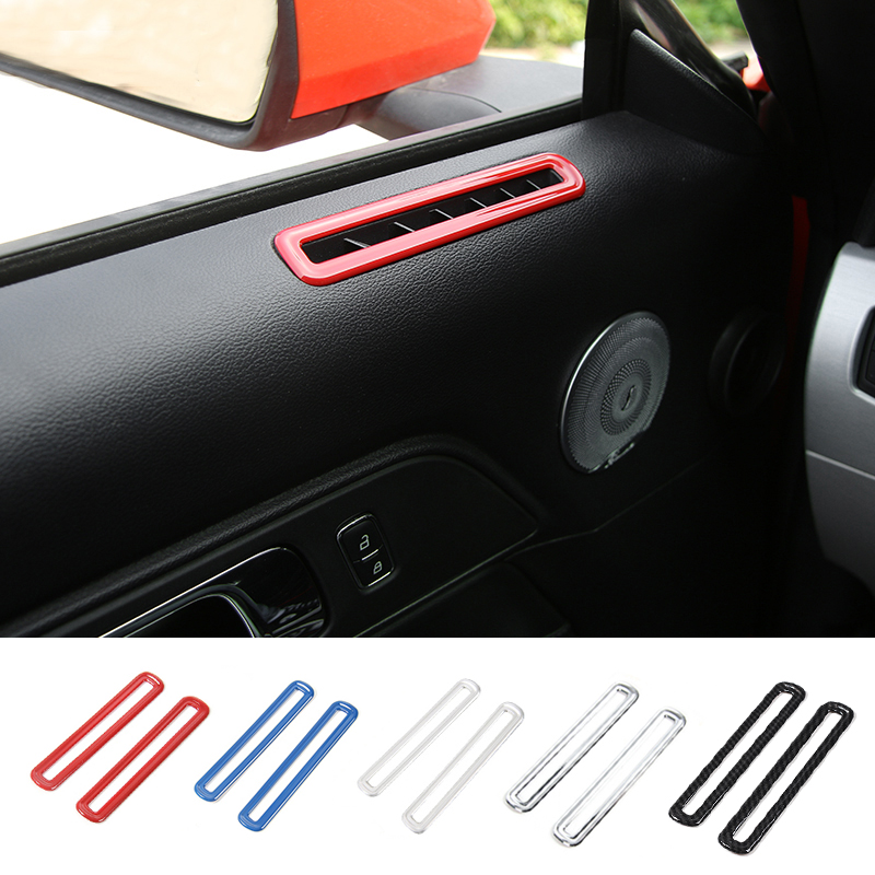 MOPAI Car ABS Interior Side Door AC Vent Decoration Cover Trim Stickers Fit For Ford Mustang 2015 Up Car Styling mopai abs car interior gps panel frame