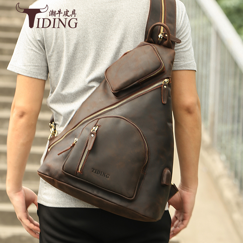 Mens Travel Chest Bags Genuine leather 2019 new man big travel chest pack bag male fashion casual chest bags real leatherMens Travel Chest Bags Genuine leather 2019 new man big travel chest pack bag male fashion casual chest bags real leather
