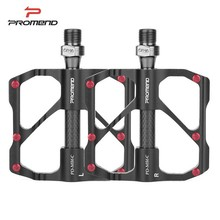 цена на PROMEND 1 Pair Bicycle Pedals For MTB Road Bike Anti-slip Ultralight Mountain Bike Pedals Carbon Fiber 3 Bearings Cycling Pedals
