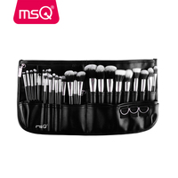MSQ Professional 29pcs Makeup Brush Set High Quality Synthetic Hair Foundation Powder Blush Eyeliner Cosmet With Black Belt Bag