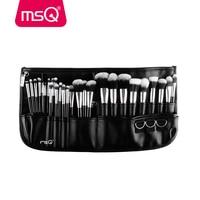 MSQ Professional 29pcs Makeup Brush Set High Quality Synthetic Hair Foundation Powder Blush Eyeliner Cosmet With Black Belt Bag